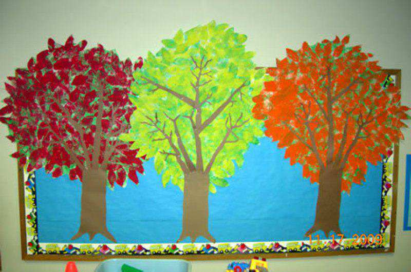 Fall-Trees-Bulletin-Board-Idea