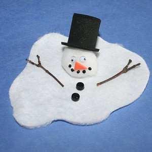 Omul de zăpadă s-a topit...