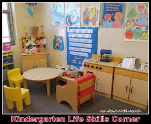 Kindergarten Lifeskills Corner