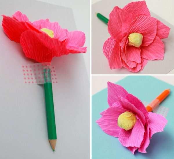 Creion decorat cu o floare