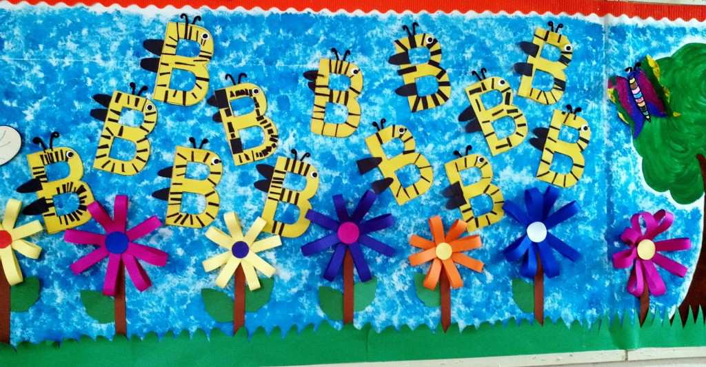 bumble-bee-spring-bulletin-board-idea