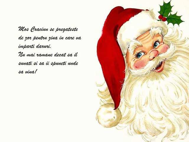 Sună-l acum pe Moș Crăciun!
