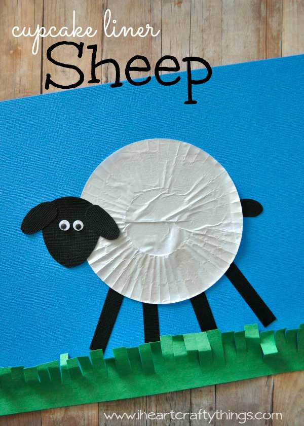 Cupcake Liner Sheep Pin